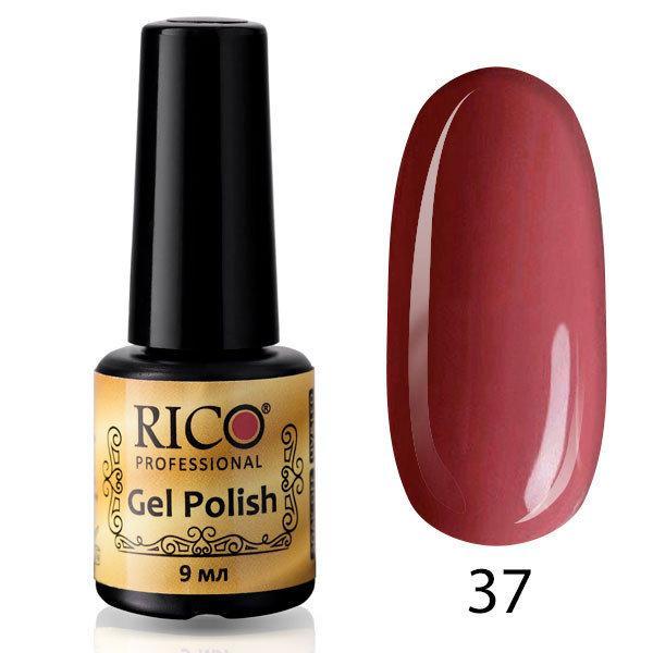 Гель-лак Rico Professional № 37, Приглушенный розово-фиолетовый, эмаль, 9 мл