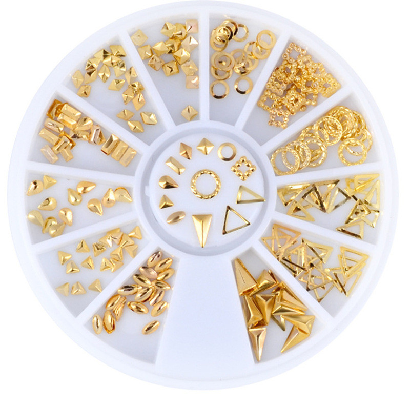 Стразы металлические фигурки в карусели, золото