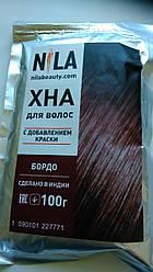 """Хна для волосся """"Бордо"""", УПАКОВКА 100грам."""