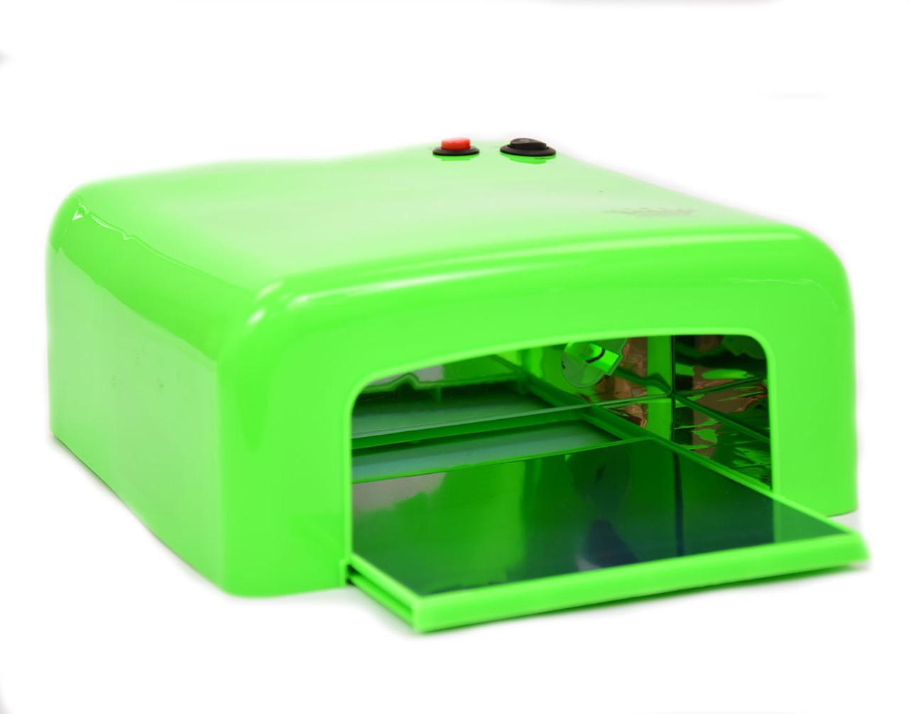 Уф лампа для маникюра,  36 Вт, зеленая