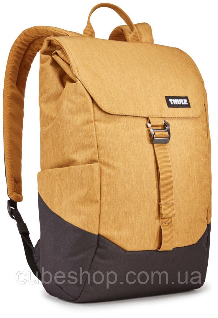 Рюкзак с отделением для ноутбука Thule Lithos 16л Backpack Wood Trush/Black (желтый-черный)