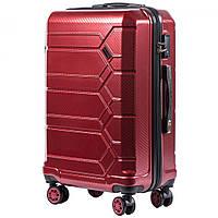 Средний пластиковый чемодан на 4 колесах Wings PC185 M