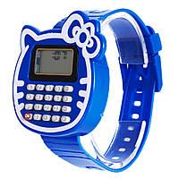 Наручные часы с калькулятором Кошка Cиние 72519, КОД: 1392231