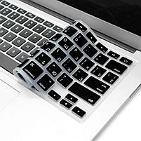 """Силіконова накладка на клавіатуру MacBook Air Pro 13, 15"""" з російськими літерами (наклейки), фото 5"""