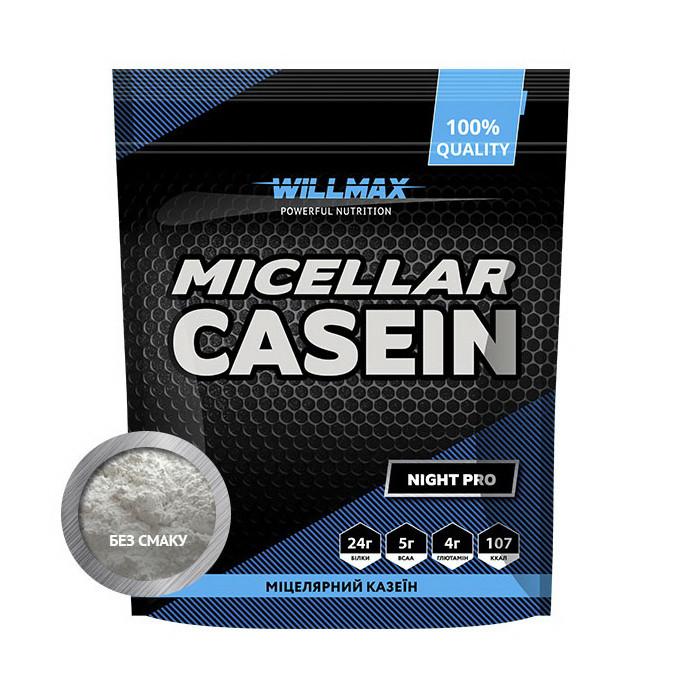 Казеин Willmax Micellar Casein (900 Г) полуничний джем