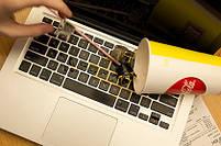 """Силіконова накладка на клавіатуру MacBook Air Pro 13, 15"""" з російськими літерами (наклейки), фото 8"""