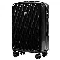 Средний пластиковый чемодан на 4 колесах Wings PC190 M, фото 1