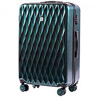 Большой пластиковый чемодан на 4 колесах Wings PC190 L