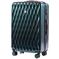 Великий пластиковий чемодан на 4 колесах Wings PC190 L