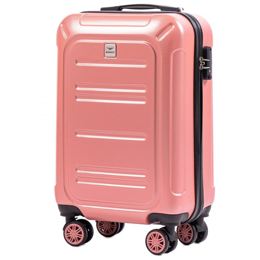 Малый чемодан 100 % POLICARBON Wings PC175 на 4 колесах размер S