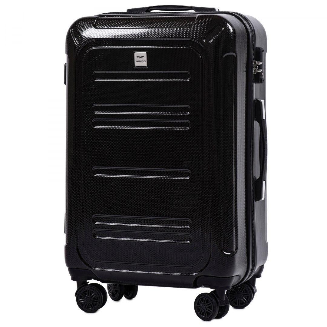 Средний чемодан 100 % POLICARBON Wings PC175 на 4 колесах размер M