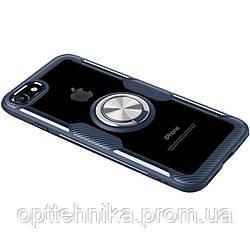 TPU+PC чехол Deen CrystalRing под магнитный держатель (opp) для Apple iPhone 7 / 8 / SE (2020)