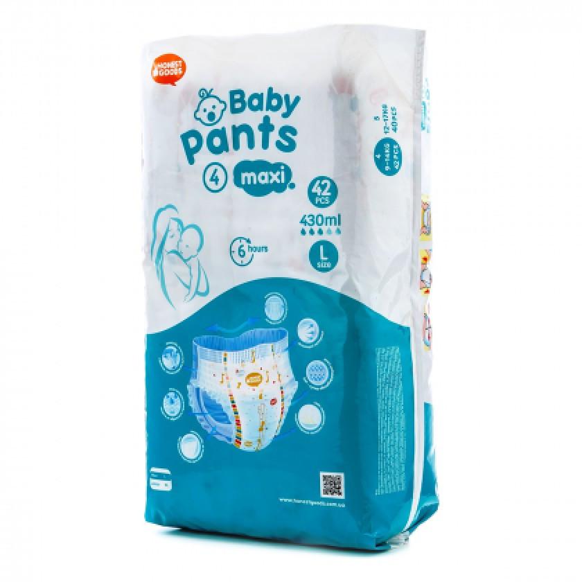 """Детские трусики -подгузники 4 Maxi 9-14 кг (42шт) """"Honest Goods"""" (Хонест Гудс)"""