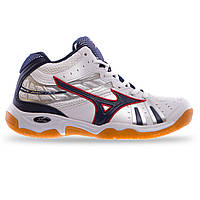 Кроссовки Mizuno белый-чёрный  41-42 размер