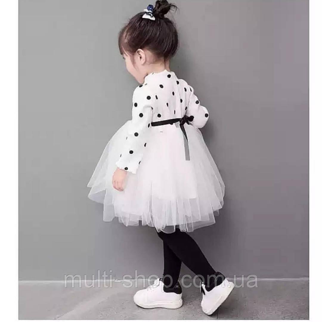Плаття для дівчинки Горошок святковий
