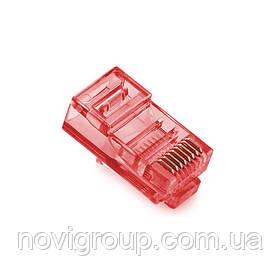 Конектор Noname RJ-45 8P8C UTP Cat-5 (100 шт / уп.) Q100 Red
