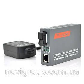 Медіаконвертер Merlion B (IC + 175), 1550, 10M / 100M / 1000M, (0 +70 ° C), 20km + блок живлення 5V 2A (євро