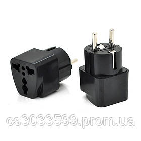 Перехідник на євророзетку TEFAL-трійник Black, в упаковці 20 штук, ціна за штуку, Q1000