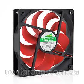 Кулер корпусний Merlion 12025 DC sleeve fan 2pin - 120 * 120 * 25мм, 1100об / хв