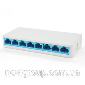 Комутатор Mercury S108C 8 портів Ethernet 10/100 Мбіт / сек, BOX Q60
