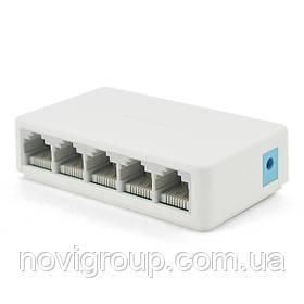Комутатор Mercury S105C 5 портів Ethernet 10/100 Мбіт / сек, BOX Q200