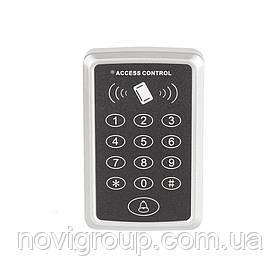 Накладна кодова клавіатура внутрішня кнопкова з вбудованим зчитувачем Proximity карт (115 х 80 х 23)