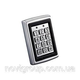 Кодова клавіатура металева з вбудованим зчитувачем Proximity карт (115 х 75 х 30)