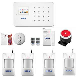 GSM сигнализация Kerui G18 для 4-х комнатной квартиры (GDTYDFKKD78DJJF)