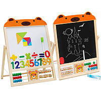 Деревянная игрушка Мольберт «Медвежонок», развивающие товары для детей.