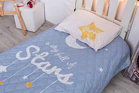 Детское покрывало CottonTwill Золотые звёзды 145x205 см + наволочка 50x70 см