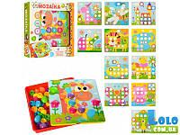 Детская мозаика, 12 картинок, 46 фишек (в ассортименте) (75535)