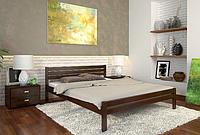 Кровать деревянная двухспальная Роял орех темый. ТМ Arbor Drev. Акция -10%