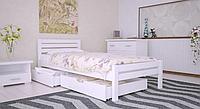 Кровать деревянная односпальная Роял белая. ТМ Arbor Drev