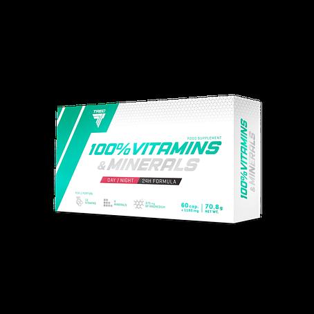 Trec Nutrition 100% Vitamins & Minerals caps 60, фото 2