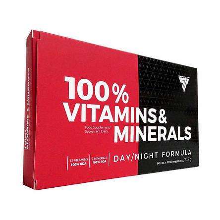 Trec Nutrition 100% Vitamins & Minerals 60 caps, фото 2