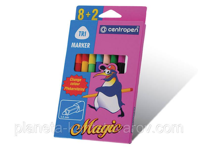 """Фломастеры Centropen 8+2 """"Magic""""(в карт уп) №2549"""