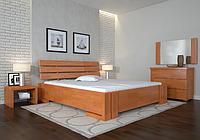 Кровать деревянная двухспальная Домино ольха. ТМ Arbor Drev. Акция -10%