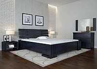 Кровать деревянная двухспальная Домино венге. ТМ Arbor Drev. Акция -10%