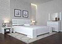 Кровать деревянная двухспальная Домино яблоня белая. ТМ Arbor Drev. Акция -10%