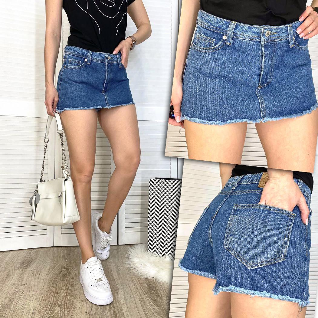 2879 Xray шорти-спідниця джинсові жіночі котонові (34-42, 5 од.)
