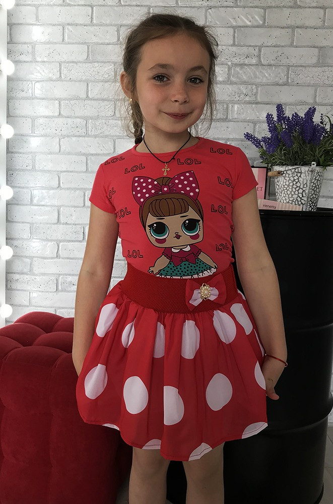 Юбка детская красная ABC 806