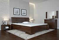 Кровать деревянная Домино с подъемным механизмом орех темный. ТМ Arbor Drev. Акция -10%