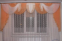 Ламбрекен шифоновый Камелия 3м