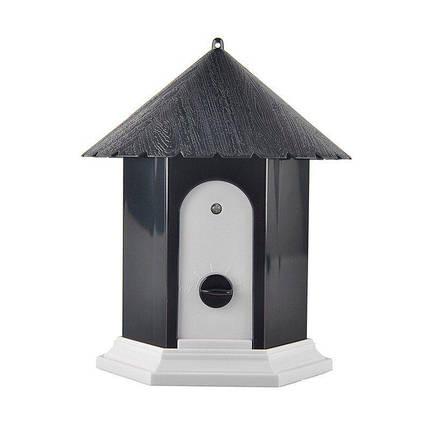 Ультразвуковой антилай скворечник для улицы Pet СSB10 c датчиком лая, черный, фото 2