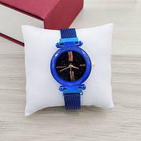 Часы женские наручные Geneva QSF-002 Blue-Black Shine ( ABR-1010-0315)