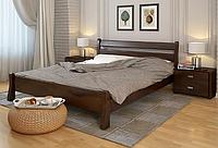 Кровать деревянная двухспальная Венеция орех темный. ТМ Arbor Drev. Акция -10%