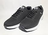 Кросівки чоловічі літні сітка сірі, фото 5
