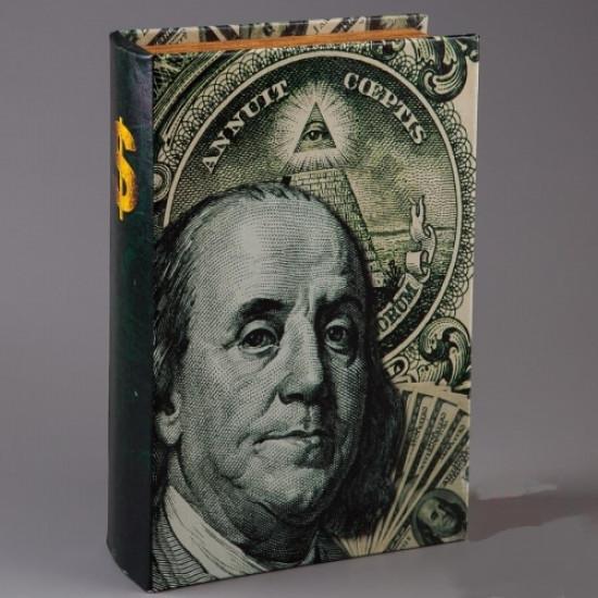 Книга сейф Бенджамин Франклин 26 см