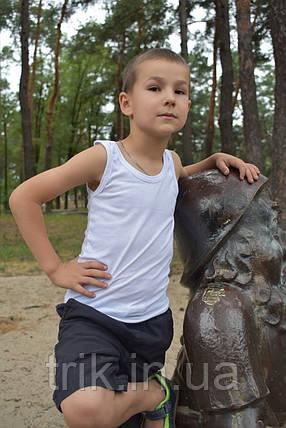 Майка детская хлопковая белая, фото 2