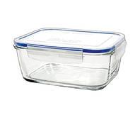 Контейнер для еды стеклянный прямоугольный Superblock R17 Borgonovo 170x124х71 мм 800 мл 2 шт.